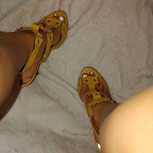 Accessories - Strappy heels worn